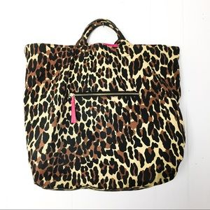 Betsey Johnson leopard tote bag